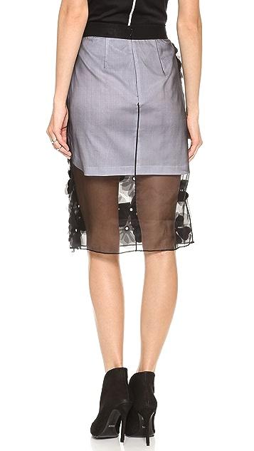 Robert Rodriguez Appliqued Flower Skirt