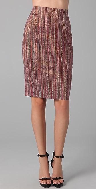 Rachel Roy Lurex Striped Pencil Skirt