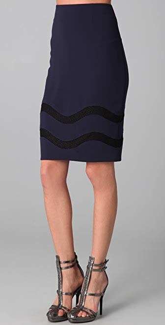 Rachel Roy Lace Inset Skirt