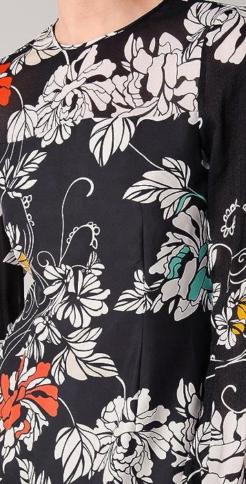 Rachel Roy Floral Volume Sleeve Dress