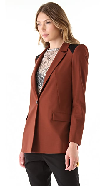 Rachel Roy Tropical Wool Tailored Jacket