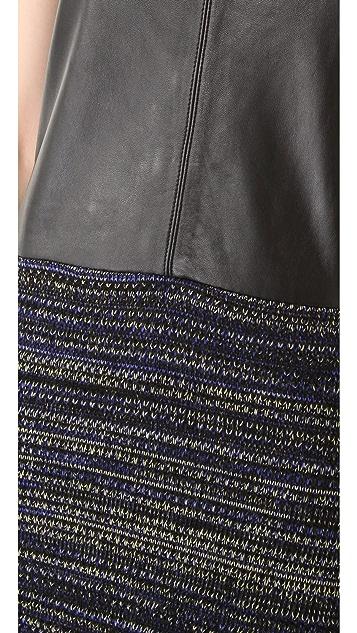 Rachel Roy Leather Mix Dress