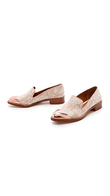 Rachel Roy Lane Lace Menswear Flats