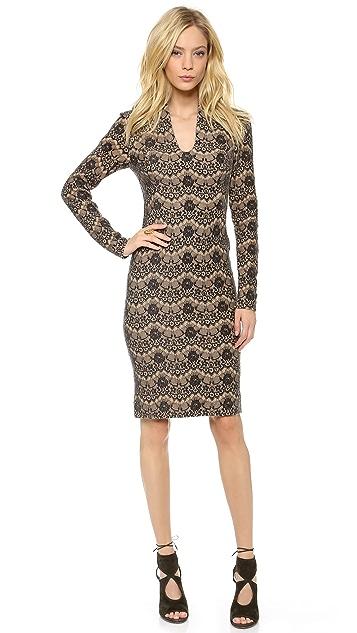 Rachel Roy Long Sleeve Sculpted Dress