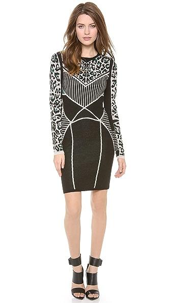 Rachel Roy Leopard Knit Dress