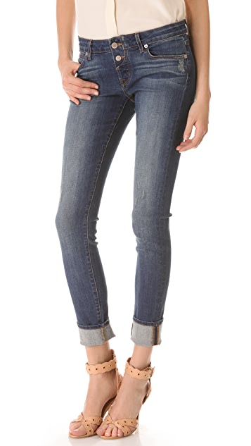 Rich & Skinny Button Up Skinny Jeans