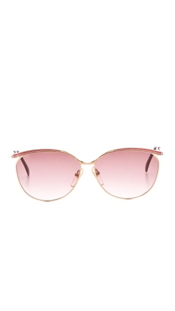 Retrosun Vintage YSL Metal Cat Eye Sunglasses