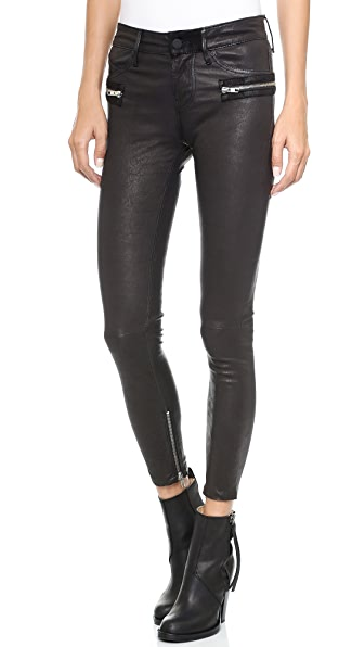 RtA Leather Hip Zip Pants