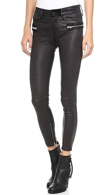 RtA Leather Hip Zip Pants