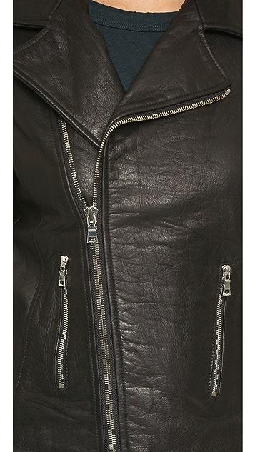 RtA Morisson Leather Fringe Jacket