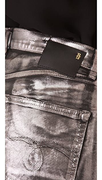 R13 Metallic Coated Shorts