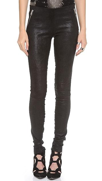 R13 Pull On Leather Leggings