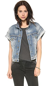 R13 Roll Sleeve Vest