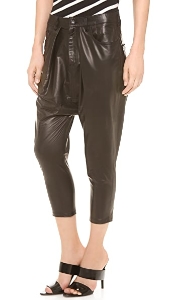 R13 Leather Harem Pants