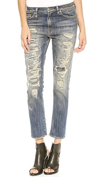R13 Shredded Slouchy Skinny Jeans | SHOPBOP