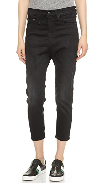 R13 The Drop Ankle Jeans - Black