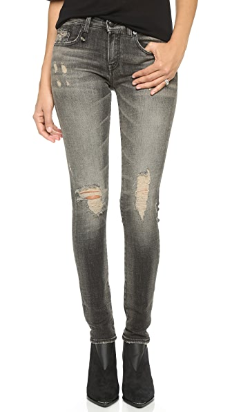 R13 Alison Mid Rise Skinny Jeans
