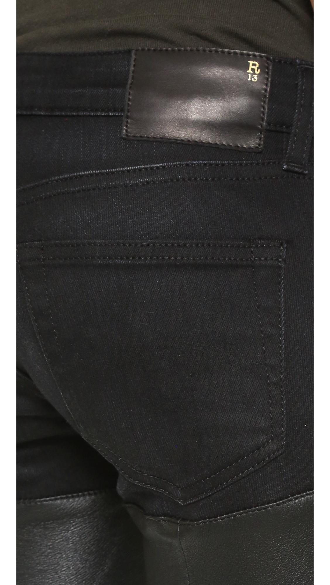 Кожаные джинсы Chaps R13  (RTHIR2028512867108)