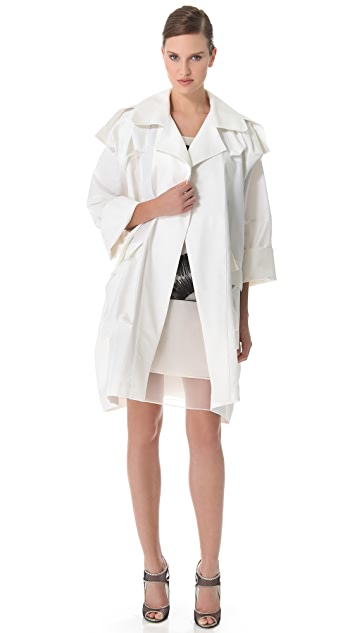 Rue du Mail Cotton Oversized Trench Coat