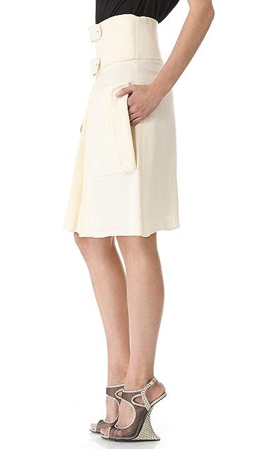 Rue du Mail Double Buckle Skirt