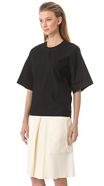 Rue du Mail Cotton Poplin Oversized Top