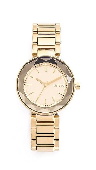 Madison Gems Gold Plate and Lapis Wristwatch : EBTH