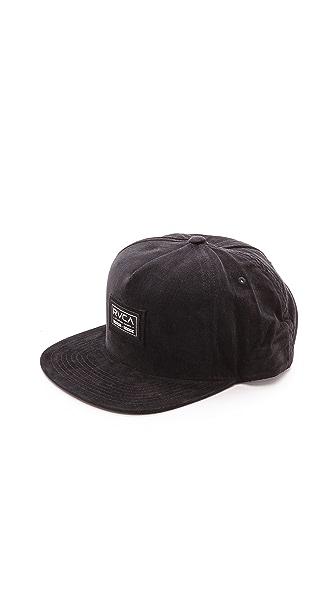 RVCA Nova Cord Snap Back Cap