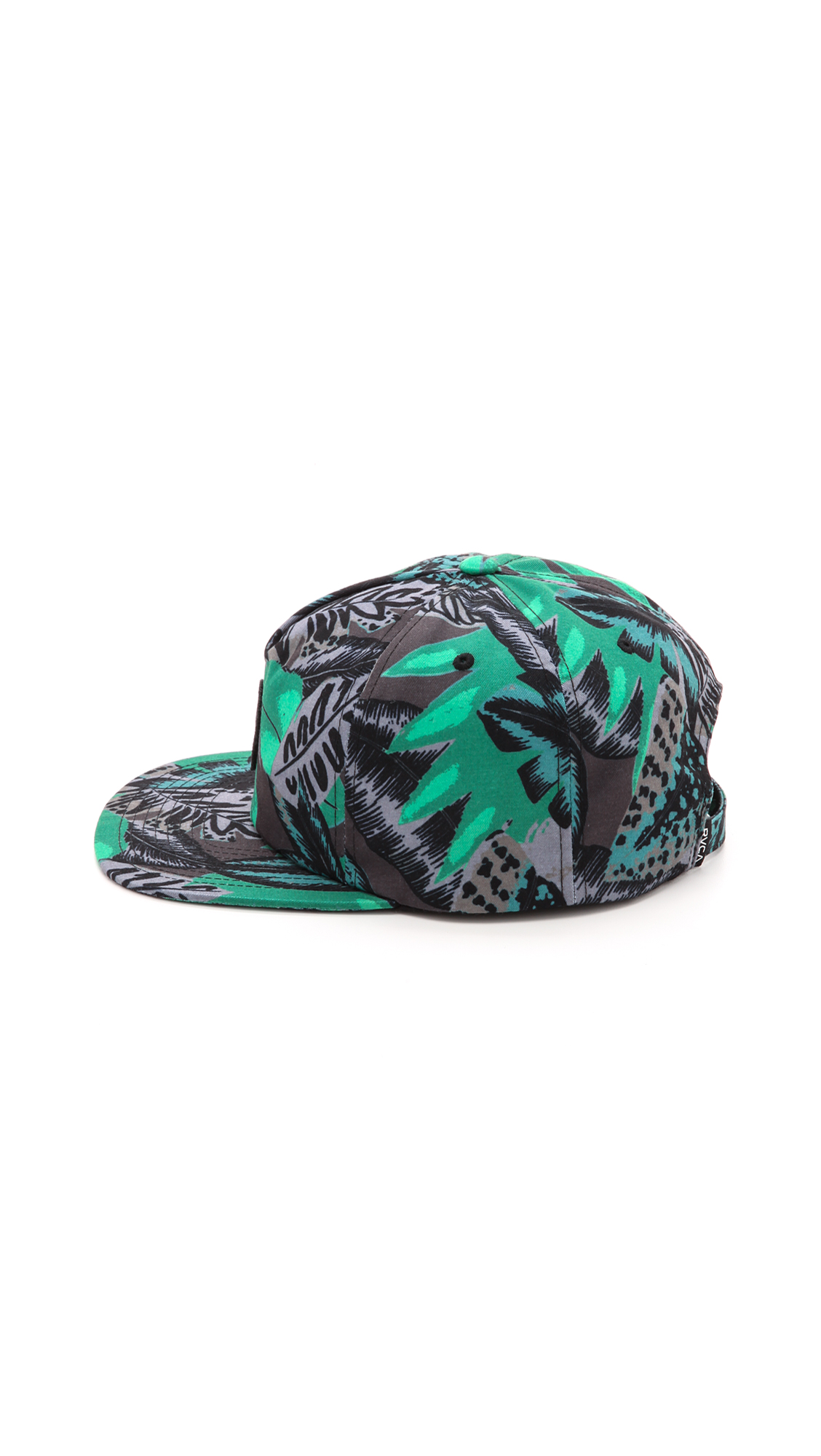 7fa0789e591 RVCA Jungle Leaves Snapback Cap