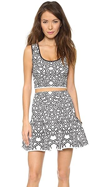 RVN Geo 3D Jacquard Crop Top