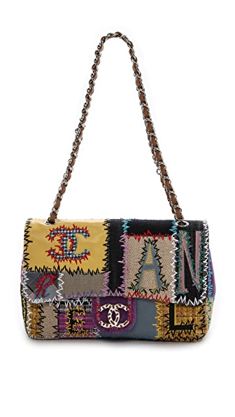 Rachel White Vintage Chanel Jumbo Patchwork Bag