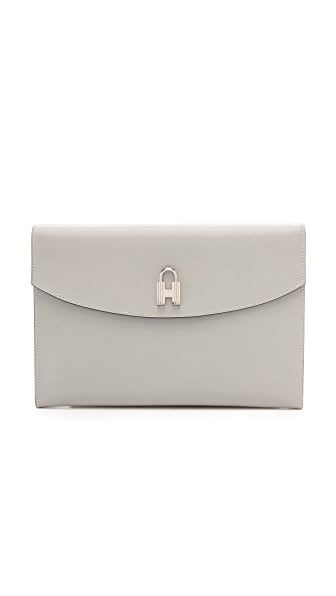 Rachel White Vintage Hermes Box Lock Clutch