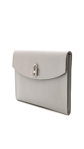 Rachel White Vintage Hermes Box Lock Clutch