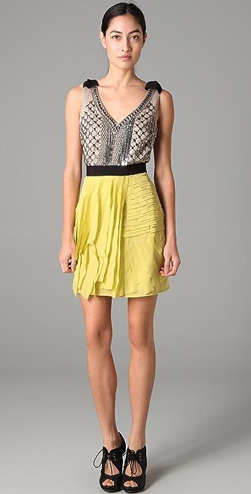 Sachin & Babi Sleeveless Dress with Metal Embellishments
