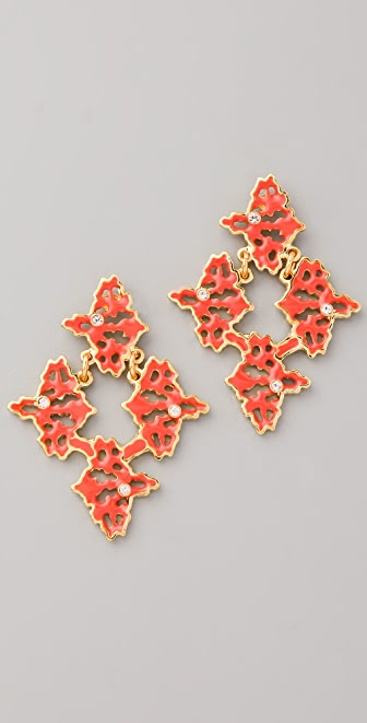 Sachin & Babi Petite Rorschach Emblem Post Earrings