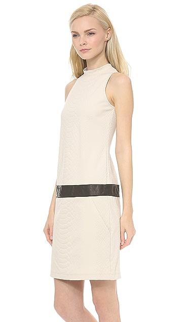 Sally LaPointe Snake Jacquard Knit Tank Dress
