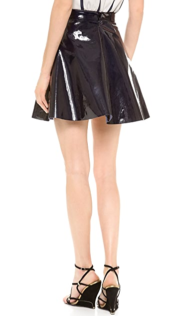 Sally LaPointe Patent Leather Circle Skirt