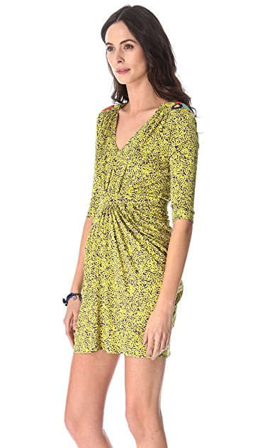 Saloni Cosima Embroidered Dress