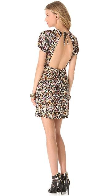 Saloni Janina Flutter Sleeve Dress