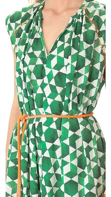 Saloni Mira Cap Sleeve Dress