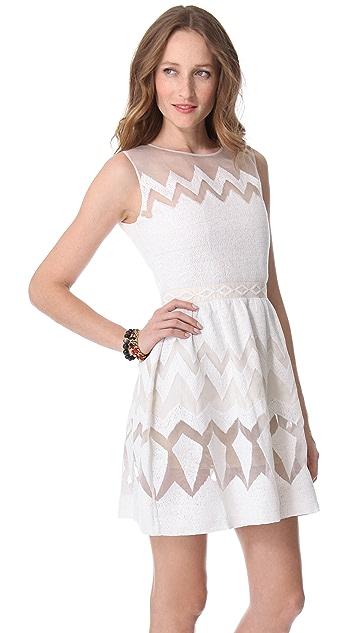 Saloni Organza Sleeveless Dress