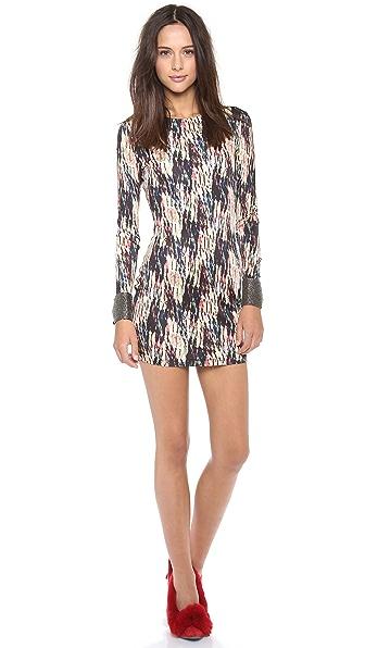 Saloni Lula Embroidered Jersey Dress