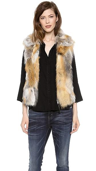 SAM. Lola Melange Fur Vest
