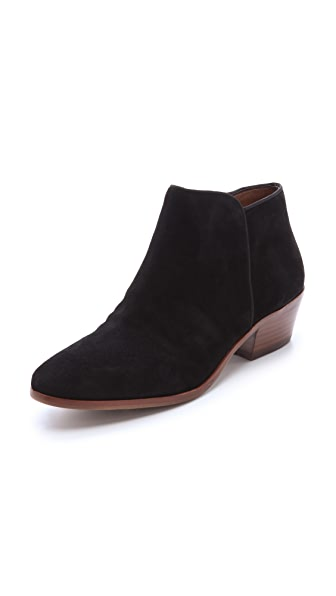 Sam Edelman Petty Suede Booties In Black