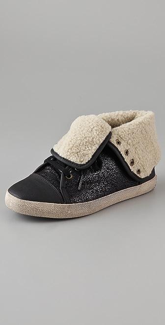 Sam Edelman Cori Shearling High Top Sneakers