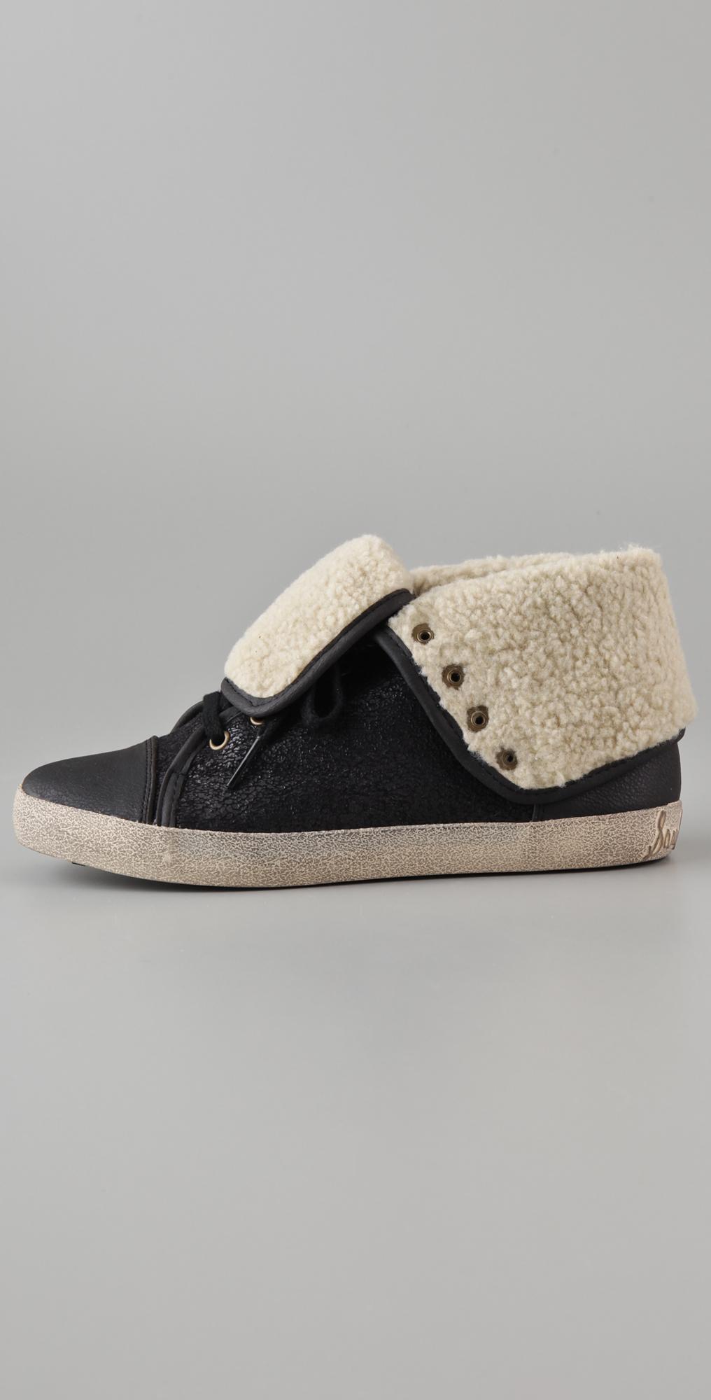 9608e36cd4a51 Sam Edelman Cori Shearling High Top Sneakers