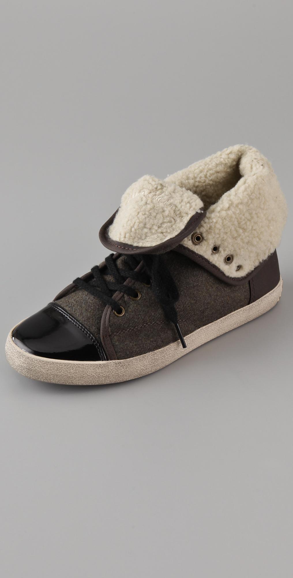 3a76f45206d15 Sam Edelman Cori Sherpa High Top Sneakers