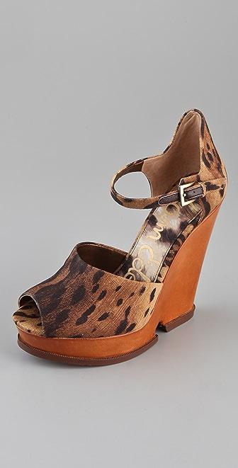 Sam Edelman Javi Cutout Wedge Sandals