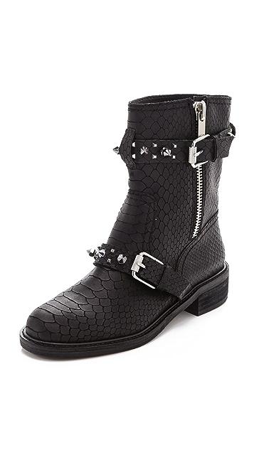 Sam Edelman Adele Embossed Moto Boots