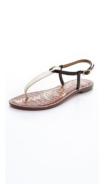 Sam Edelman Gigi T Strap Flat Sandals