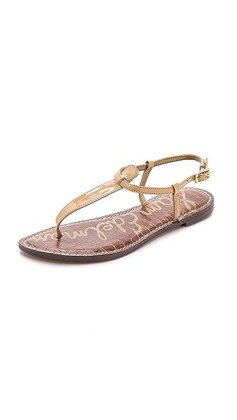 Sam Edelman Gigi Patent T Strap Sandals
